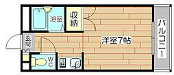 メゾンリヴェールII[6階]の間取り