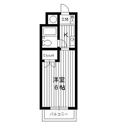 東京都板橋区東新町の賃貸アパートの間取り
