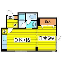 北海道札幌市東区北二十三条東10丁目の賃貸マンションの間取り