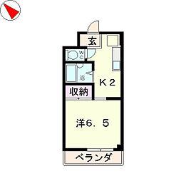 メゾンYK[1階]の間取り