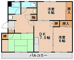 第一天神山コーポ[5階]の間取り