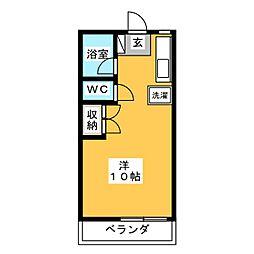 ドヌールKAWAKAMI[1階]の間取り