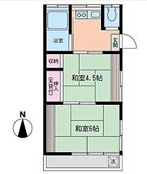 片山荘[201号室]の間取り