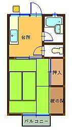 サンハイツKOTOH[2階]の間取り