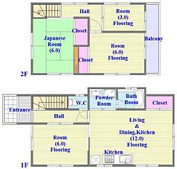 [一戸建] 兵庫県神戸市垂水区高丸8丁目 の賃貸【/】の間取り