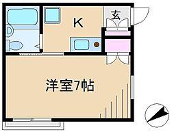 ルネサンス栗田[2階]の間取り