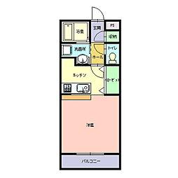 De`aje(デージュ)[203号室]の間取り
