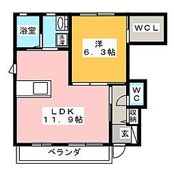 ルピナスA[1階]の間取り
