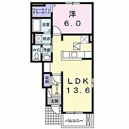 小田急小田原線 町田駅 バス17分 上山崎下車 徒歩6分の賃貸アパート 1階1LDKの間取り