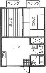 ファミールハムラ[2階]の間取り