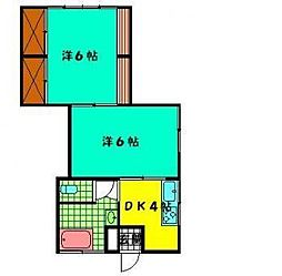 坂元第1アパート[206号室]の間取り