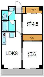 大阪府守口市寺方錦通3丁目の賃貸マンションの間取り