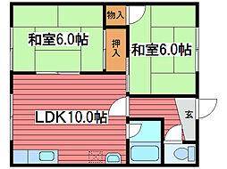 池田マンション2号[2階]の間取り
