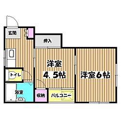 山本ハイツ[2階]の間取り