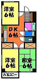 カネナカ第5ビル(イナゲ)[305号室]の間取り