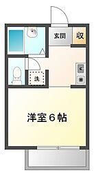メゾン甲子園[1階]の間取り
