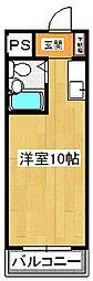 メゾン・ド・梶山[406号室]の間取り