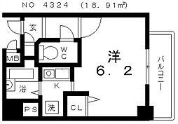 クレール上本町[2階]の間取り