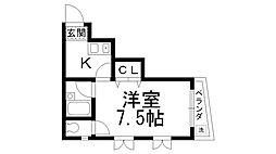 スターハウス[0201号室]の間取り