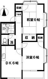 ラベンダー湘南[2階]の間取り