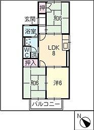 タウンKOSE[2階]の間取り