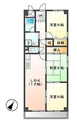 フロレアール I[4階]の間取り