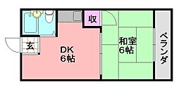 龍美ポロネーズ[8E号室]の間取り