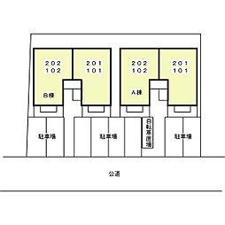 クレール藤江 B[102号室]の外観