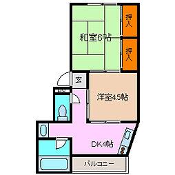 平野マンション[101号室号室]の間取り