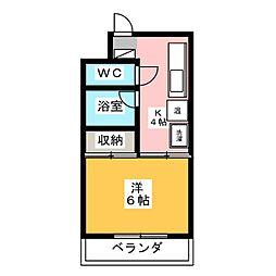 ハイクオリティ秀水[3階]の間取り