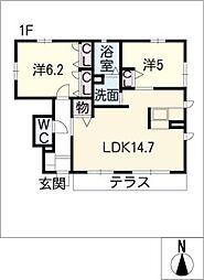 メゾンリッシュ3[1階]の間取り