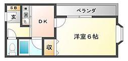 スプリングコートII[1階]の間取り
