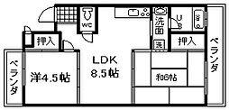 エクセルサツキ[B201号室]の間取り
