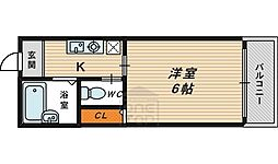 メゾン京橋2階Fの間取り画像