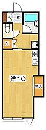 大町ハウス[102号室号室]の間取り