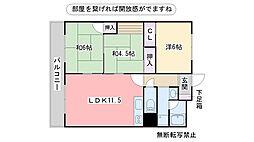 福岡県福岡市早良区室見5丁目の賃貸マンションの間取り