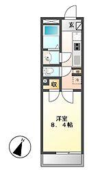 クレイノ志賀本通[1階]の間取り