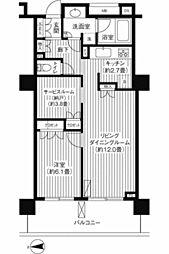 ル・サンクアイリスタワー[1104号室]の間取り