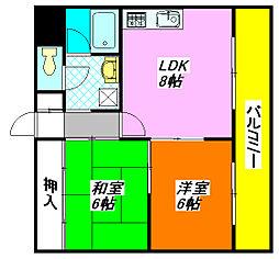 ファースト小阪 402号室[4階]の間取り
