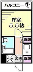 ルピナス横浜青木橋[201号室]の間取り