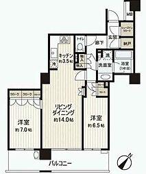 パークタワー東京イースト[7階]の間取り