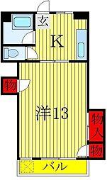 富士マンション[4階]の間取り