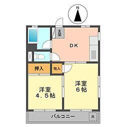 東京都江戸川区北小岩5丁目の賃貸マンションの間取り