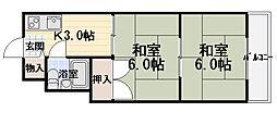 森岡ハイツ[311号室]の間取り