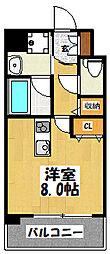 大阪府大阪市鶴見区鶴見4丁目の賃貸マンションの間取り