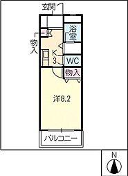 ラセール[2階]の間取り