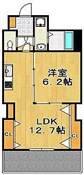 レジデンスカープ博多[8階]の間取り