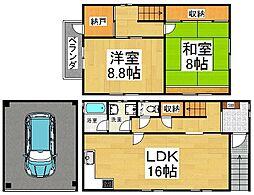 [一戸建] 京都府京都市南区吉祥院九条町 の賃貸【/】の間取り