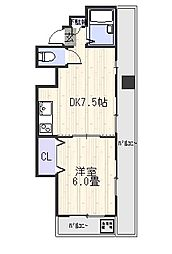 ゴトービル[4階]の間取り