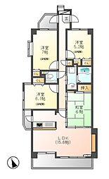 ユーハウス第2徳川[3階]の間取り